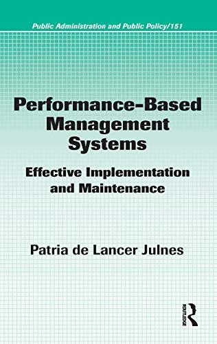 Performance-Based Management Systems: De Lancer Julnes,