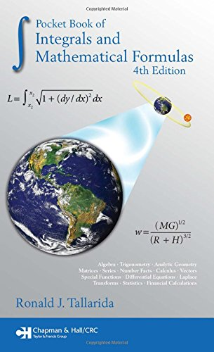 9781420063042: Pocket Book of Integrals and Mathematical Formulas, 4th Edition (Advances in Applied Mathematics)