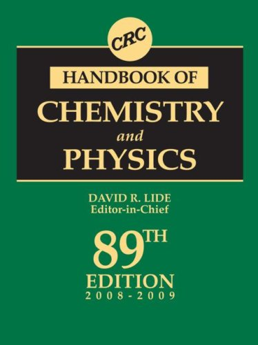 CRC Handbook of Chemistry and Physics, 89th