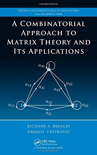 9781420082234: A Combinatorial Approach to Matrix Theory and Its Applications (Discrete Mathematics and Its Applications)