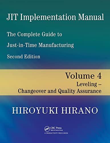 JIT Implementation Manual -- The Complete Guide: Hiroyuki Hirano