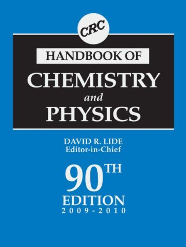 CRC Handbook of Chemistry and Physics (91st Edition)