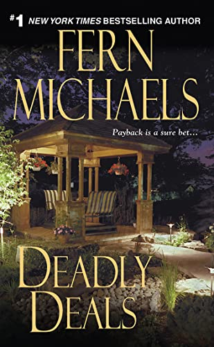 Deadly Deals (Sisterhood) 9781420106862 The Sisterhood Makes Things Right After years of trying to become pregnant without success, Rachel Dawson and her husband Thomas felt their dreams had finally come true the day they brought home their newly adopted twin babies. Though the lawyer Baron Bell who arranged for the surrogate mother charged a hefty six-figure fee, one glance into the eyes of their precious children told them it was all worth it. Until the birth mother reappeared, first demanding more money, then the twins themselves. Suddenly Baron Bell was nowhere to be found, and the Dawsons were once again childless, heartbroken and nearly destitute. When the case finds its way to the offices of high-profile attorney Lizzie Fox, she can't wait to take down the so-called  Mr. Wonderful.  And she knows she'll have all the help she needs as it's just the kind of crime that really gets the Sisterhood's adrenalin flowing. Once they get their hands on the perpetrators there will be hell to pay, and it will cost a lot more than cold, hard cash. . . Praise for Fern Michaels and her Sisterhood novels. . .  Revenge is a dish best served with cloth napkins and floral centerpieces. . .fast-paced. . .puts poetic justice first. --Publishers Weekly on Payback  Delectable. . .deliver[s] revenge that's creatively swift and sweet, Michaels-style.  --Publishers Weekly on Hokus Pokus