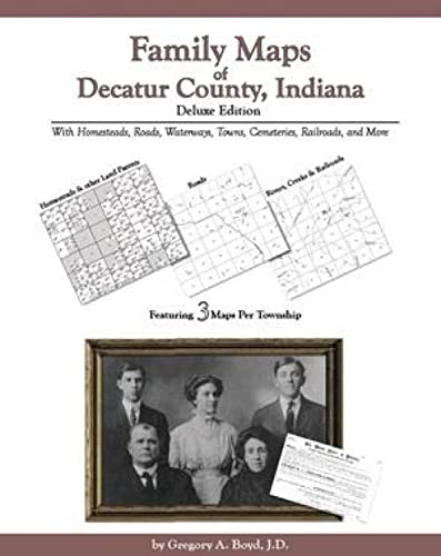 9781420301335: Family Maps of Decatur County, Indiana, Deluxe Edition
