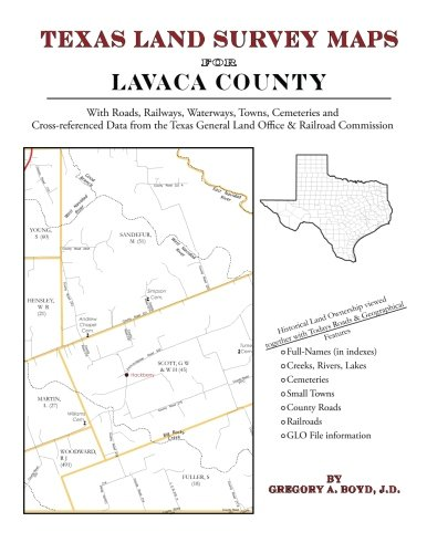 Texas Land Survey Maps for Lavaca County: Boyd J.D., Gregory A