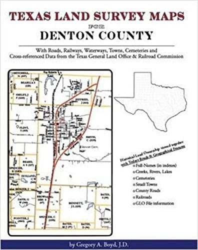 9781420350111: Texas Land Survey Maps for Denton County, Texas