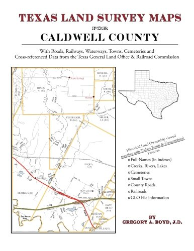 9781420350197: Texas Land Survey Maps for Caldwell County