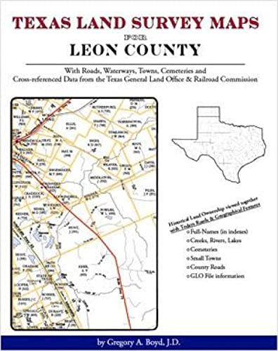 9781420350715: Texas Land Survey Maps for Leon County, Texas