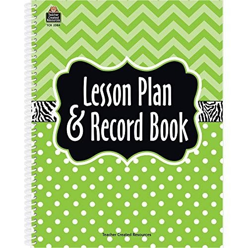 9781420623840: Lime Chevrons and Dots Lesson Plan & Record Book