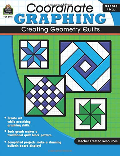 9781420624939: Coordinate Graphing: Creating Geometry Quilts, Grades 4 & Up