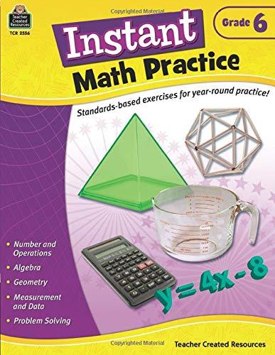 9781420625561: Instant Math Practice, Grade 6