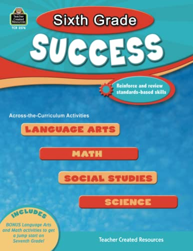 9781420625769: Sixth Grade Success (Success Series)