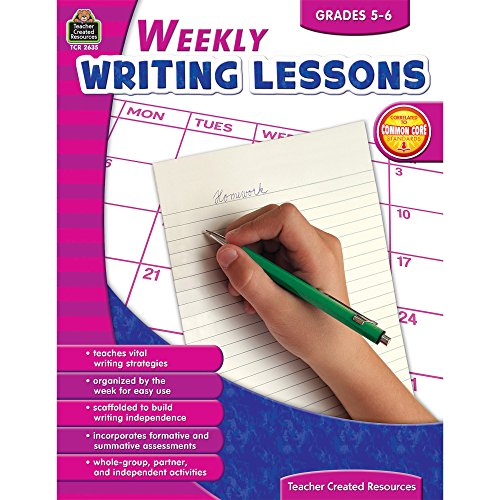 9781420626353: Weekly Writing Lessons Grades 5-6
