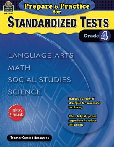 9781420628944: Prepare & Practice for Standardized Tests Grade 4