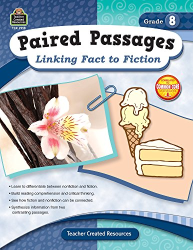 9781420629187: Paired Passages: Linking Fact to Fiction Grade 8