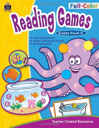 9781420631203: Full-Color Reading Games, PreK-K