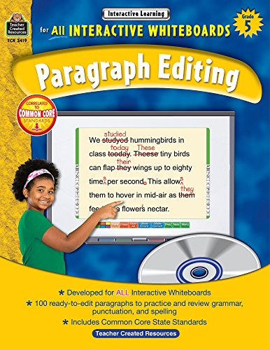 9781420634198: Interactive Learning: Paragraph Editing Grd 5