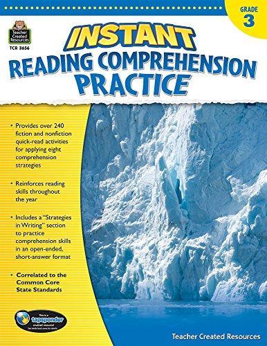 9781420636567: Instant Reading Comprehension Practice Grade 3