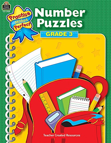 9781420639087: Number Puzzles Grade 3 (Practice Makes Perfect series)