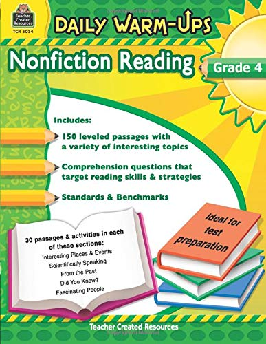 9781420650341: Daily Warm-Ups: Nonfiction Reading Grd 4