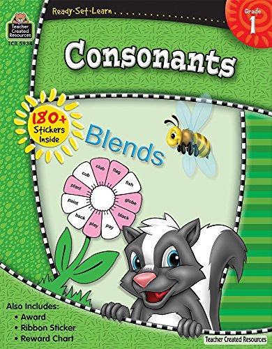 9781420659344: Ready-Set-Learn: Consonants Grd 1