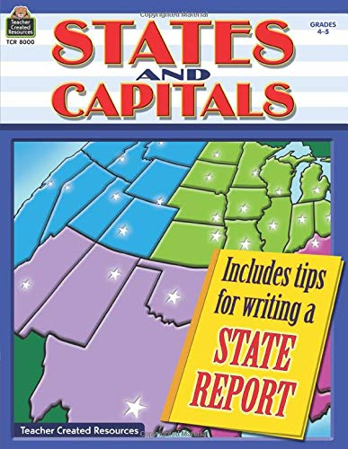 9781420680003: States and Capitals Grd 4-5