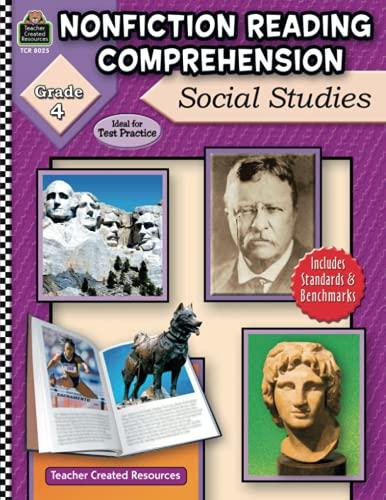 9781420680256: Nonfiction Reading Comprehension: Social Studies, Grade 4
