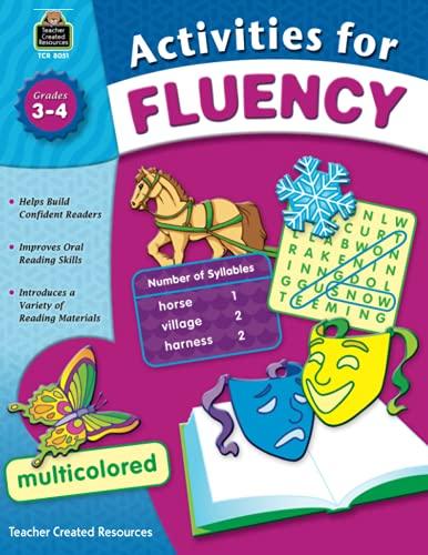 9781420680515: Activities for Fluency, Grades 3-4