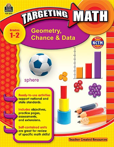 9781420689914: Targeting Math: Geometry, Chance & Data, Grades 1-2