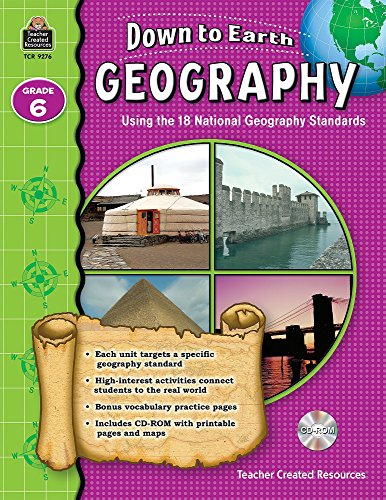 9781420692761: Down to Earth Geography, Grade 6