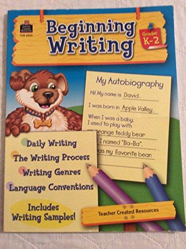 9781420699906: Beginning Writing: Grades K-2