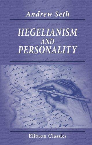 9781421260310: Hegelianism and Personality