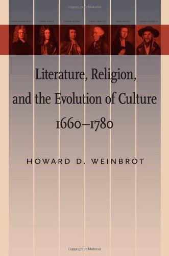9781421405162: Literature, Religion, and the Evolution of Culture, 1660–1780