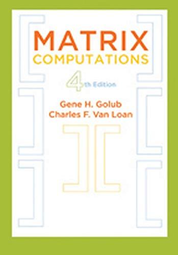9781421407944: Matrix Computations 4 edition