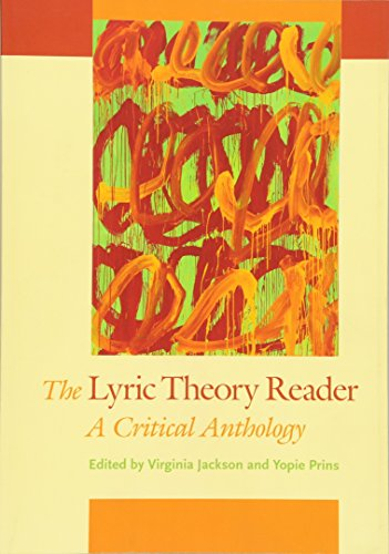 The Lyric Theory Reader: A Critical Anthology