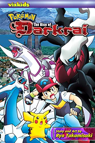 Pokémon: The Rise of Darkrai (Pokemon) 9781421522890 • Based on the movie Pokémon Movie 10: Dialga vs. Palkia vs. Darkrai, which came out in Japan in July 2007. The movie performed well, grossing over $10 million in its opening week. • Pokémon Movie 10: Dialga vs. Palkia vs. Darkrai is tentatively scheduled for its U.S. theatrical release in June 2008. • The second coming of Pokémon is taking over the world (of retail)! • The Pokémon franchise is well known among parents as a safe bet and kid-friendly. • Also features characters from the Diamond & Pearl series. • Diamond & Pearl is one of the top-selling video games worldwide and is the most successful Pokémon release since the original series, selling almost 9 million copies worldwide and generating over $25 billion as of August 2007. • The success of Diamond & Pearl games has generated enormous fan awareness not only of that series, but also of Pokémon across the board; even older titles such as Pokémon Adventures have seen a sales spike since the game's debut. • The anime series Diamond & Pearl is one of Cartoon Network's feature properties, airing in the prime weekday afternoon time-slot. • For Pokémon fans who have to get 'em all (or at least all the VIZ Media licensed merchandise)! • Over 150 million Pokémon video games sold worldwide / 40 million in the U.S. • Over 14 billion trading cards sold worldwide. The manga tie in to Pokémon Movie 10: Dialga vs. Palkia vs. Darkrai. On their way to participate in the next Pokémon contest, Ash, Brock, and Dawn come to Álamos Town, known for its beautiful gardens and the impressive Space-time Tower, built by the famous architect Gowdy. After mysterious swathes of destruction begin to appear and an ominous fog envelops the town, preventing the people from leaving, Tonio, Gowdy's grandson recognizes these phenomena as having been predictions in his grandfather's diaryÉ predictions that the integrity of space and time are under threat from a battle between the legendary Pok