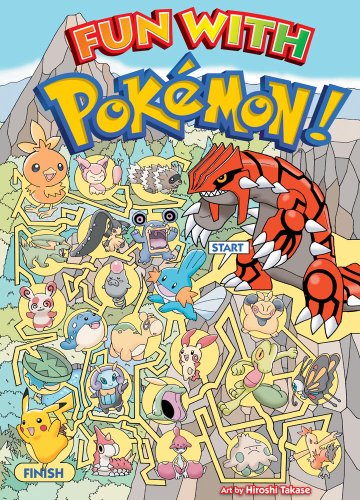 Pokemon Fun with Pokemon by Hiroshi Takase 2008 Hardcover 9781421523118 Pok - mon is back in this fun book filled with mazes and puzzles. This is the first of two similar Pok - mon books from VIZ Media's VIZKids imprint. Young readers will enjoy mazes, finding differences and matching unique features to their favorite Pok - mon from original characters to those introduced in Pok - mon Ruby and Sapphire. Full-color, playful artwork showing Pok - mon playing on the beach, smashing rocks or in a park will appeal to preschool and younger grade school children.