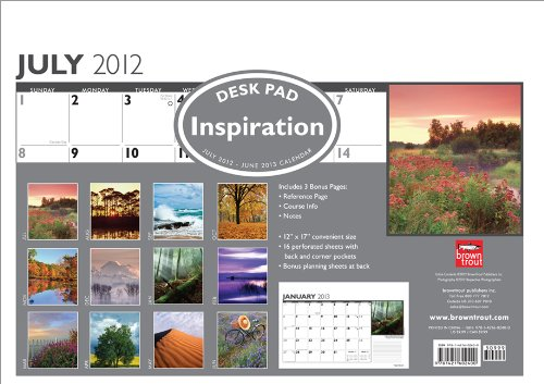 Inspiration 2013 Academic Desk Pad: Browntrout Publishers