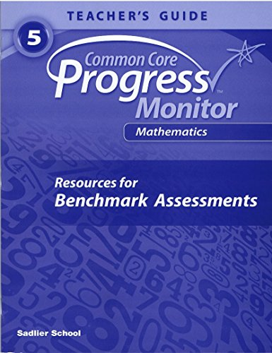 9781421731858: Common Core Progress Monitor Math Grade 5 Teacher's Edition