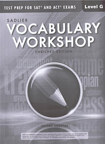 9781421786124: Test Prep for SAT and ACT Exams Sadlier Vocabulary Workshop Enriched Edition Level G