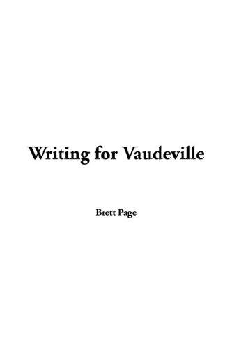 9781421900650: Writing for Vaudeville