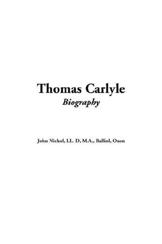 9781421907055: Thomas Carlyle