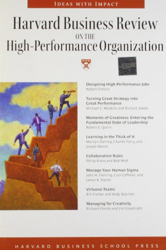 Harvard Business Review on the High-performance Organization (Harvard Business Review Paperback ...