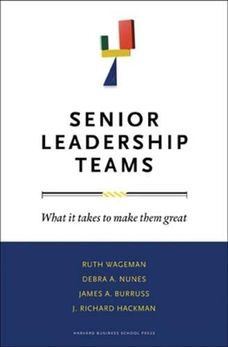9781422103364: Senior Leadership Teams: What It Takes to Make Them Great (Center for Public Leadership)