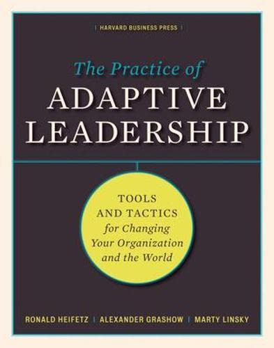 9781422105764: Practice of Adpative Leadership: Tools and Tactics for Changing Your Organization and the World