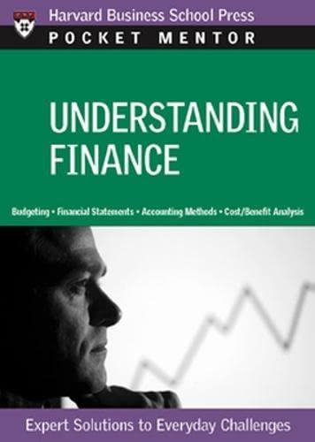 9781422118832: Understanding Finance: Expert Solutions to Everyday Challenges (Pocket Mentor)