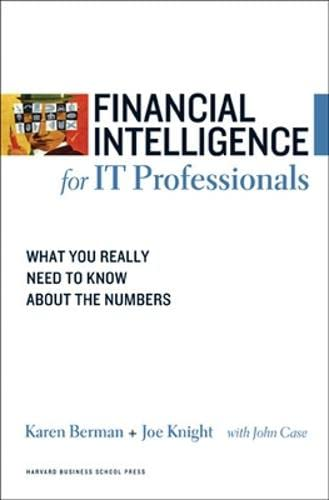 9781422119143: Financial Intelligence for IT Professionals: What You Really Need to Know About the Numbers (Financial Intelligence)