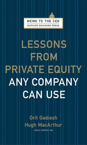 9781422124956: Lessons from Private Equity Any Company Can Use (Memo to the CEO)