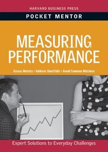 9781422129708: Measuring Performance (Harvard Pocket Mentor)