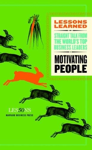 Motivating People (Lessons Learned)